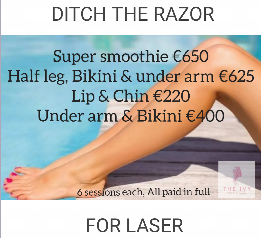 """Ditch The Razor For Laser"""